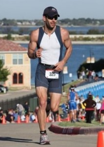 Zack running in the Toyota U.S. Open Triathlon